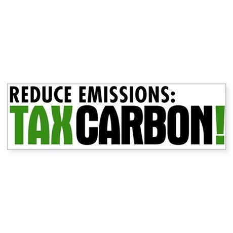 Tax Carbon Bumper Sticker