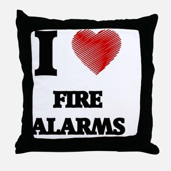 Unique Alarm Throw Pillow
