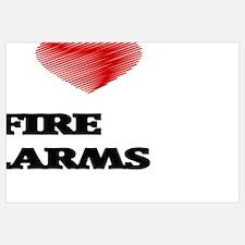 Funny Fire heart Wall Art
