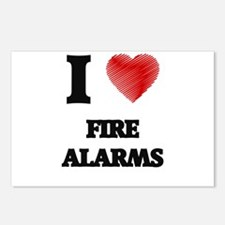 I love Fire Alarms Postcards (Package of 8)