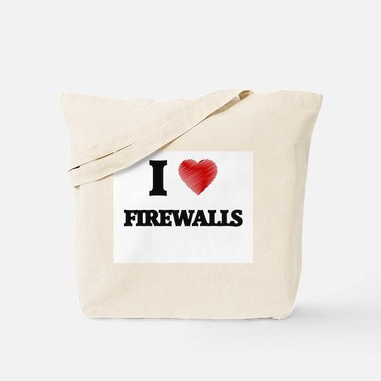 I love Firewalls Tote Bag