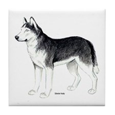 Siberian Husky Dog Tile Coaster