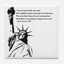 statue of Liberty.jpg Tile Coaster