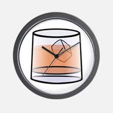 Whisky glass Wall Clock