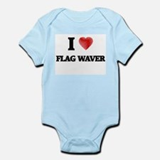 I love Flag Waver Body Suit