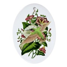 Morning Glory Oval Ornament