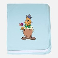 Walrus with Flowers baby blanket