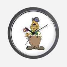 Walrus with Flowers Wall Clock