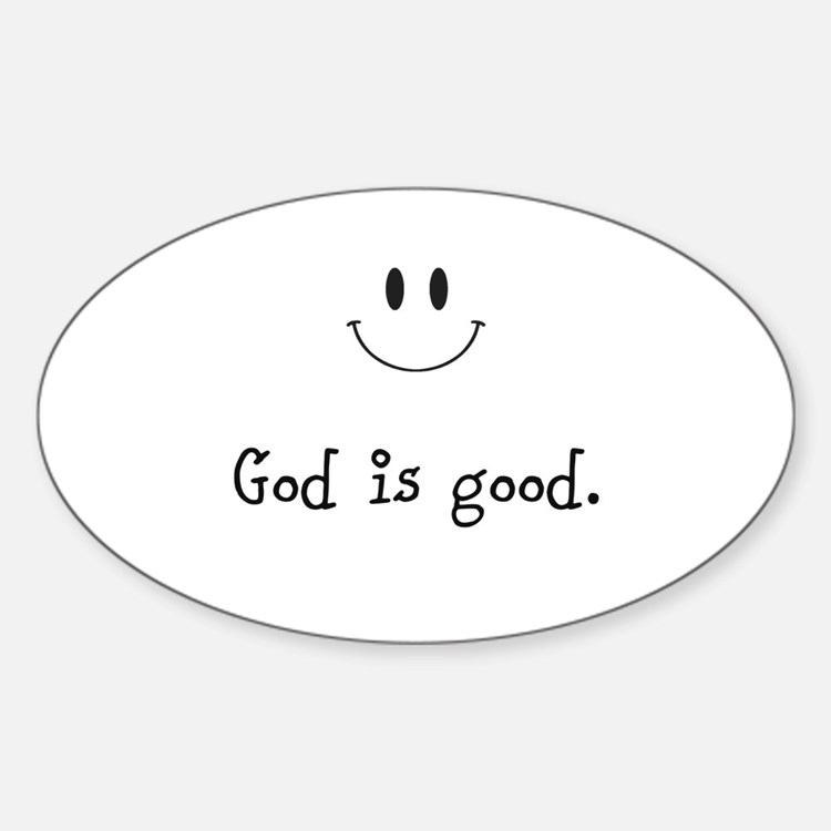 Cute Good father Sticker (Oval)