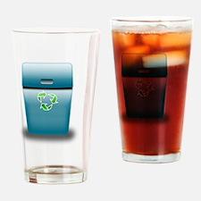 Ronaldo blue trash can Drinking Glass
