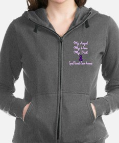 Unique Angels and cancer Women's Zip Hoodie