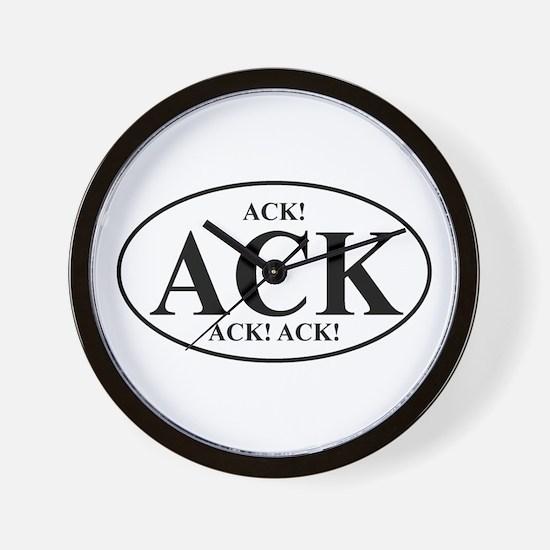 ACK! ACK! ACK!  Wall Clock