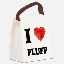 I love Fluff Canvas Lunch Bag