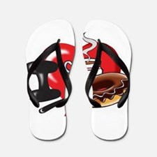 I Love Coffee and Donuts Flip Flops