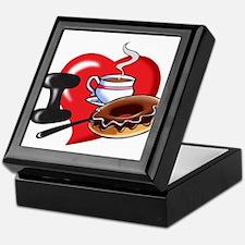 I Love Coffee and Donuts Keepsake Box