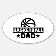 Basketball dad Sticker (Oval)