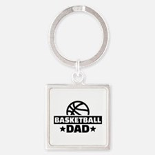 Basketball dad Square Keychain
