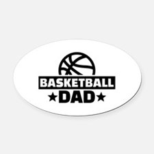 Basketball dad Oval Car Magnet