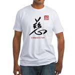 Kanji Compassion Fitted T-Shirt