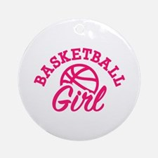 Basketball girl Round Ornament