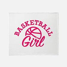 Basketball girl Throw Blanket