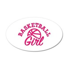 Basketball girl Wall Decal