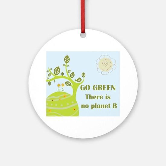 Cute Go green Round Ornament