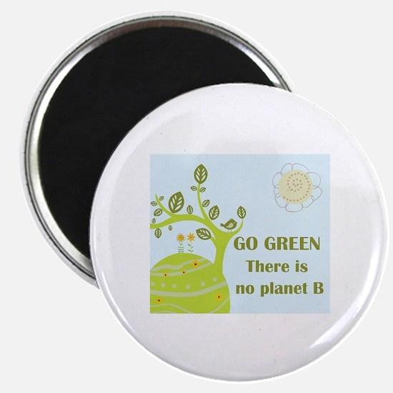 Cute Go green Magnet