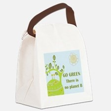 Cute Go green Canvas Lunch Bag