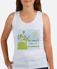 Cute Go green Women's Tank Top