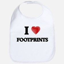 I love Footprints Bib