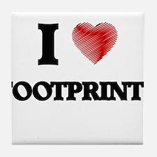 I love Footprints Tile Coaster