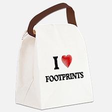 I love Footprints Canvas Lunch Bag