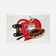 I Love Coffee and Donuts Magnets