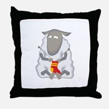 Sheep Knitting Sock Throw Pillow