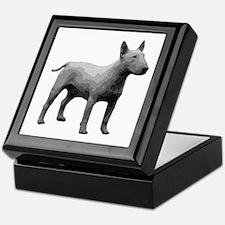 Bullterrier grayscale Keepsake Box