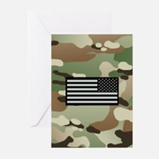 New Camouflage Pattern with IR Flag Greeting Cards