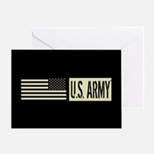 U.S. Army: U.S. Army (Black Flag) Greeting Card
