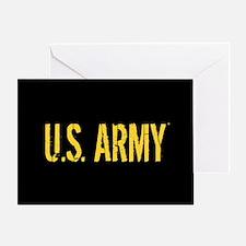 U.S. Army: Black & Gold Greeting Card