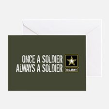 U.S. Army: Once a Soldier (Military Greeting Card