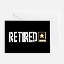 U.S. Army: Retired (Black) Greeting Card