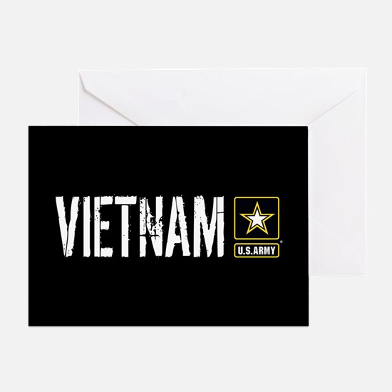 U.S. Army: Vietnam (Black) Greeting Card
