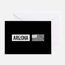 Black & White U.S. Flag: Arizona Greeting Card