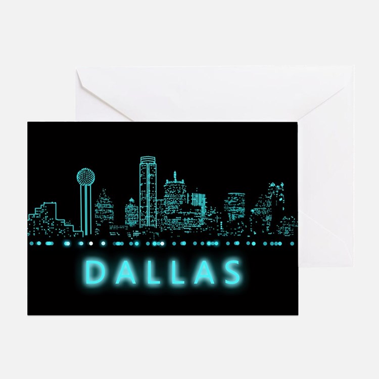 Digital Cityscape: Dallas, Texas Greeting Card
