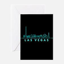 Digital Cityscape: Las Vegas, Nevada Greeting Card