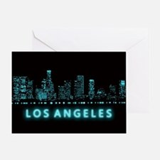 Digital Cityscape: Los Angeles, Cali Greeting Card