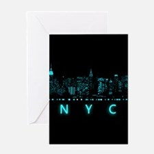 Digital Cityscape: New York City, Ne Greeting Card