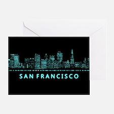 Digital Cityscape: San Francisco, Ca Greeting Card