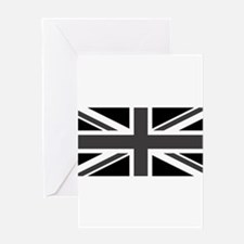 Union Jack - Black and White Greeting Card