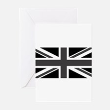Union Jack - Black and White Greeting Cards (Pk of